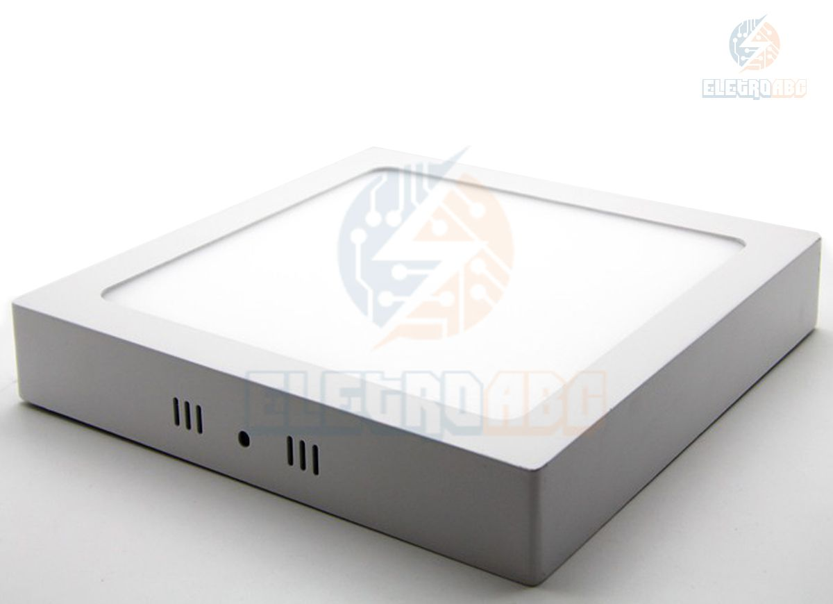 Luminária LED sobrepor 12 watts BQ quadrada