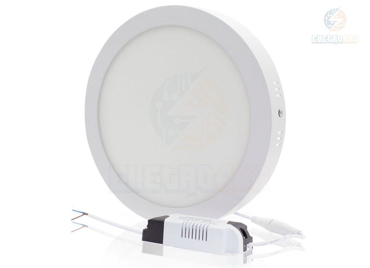 Luminária LED Sobrepor 18 watts BQ Redonda