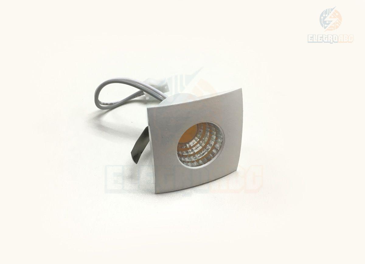 Mini Spot LED branco 3 watts BQ Quadrado
