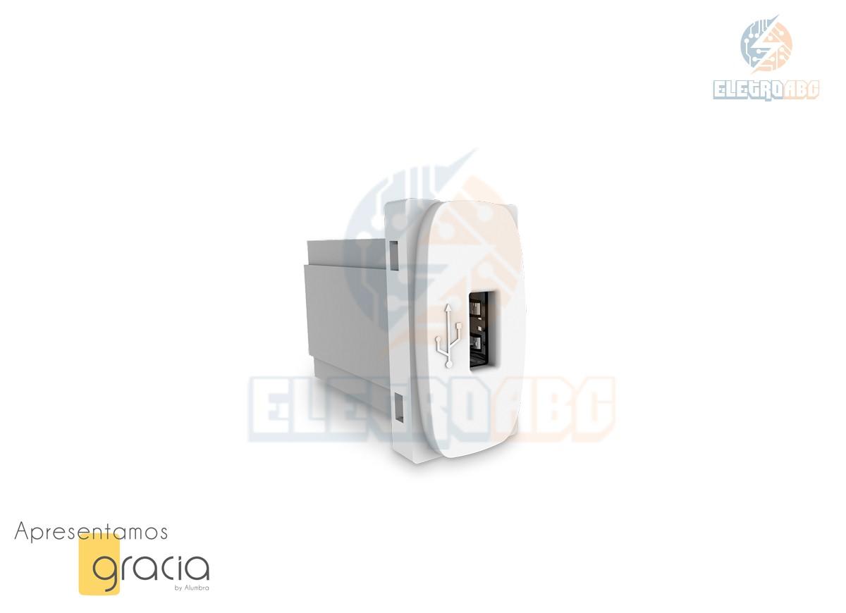 Modulo de Tomada USB Biv Alumbra Gracia