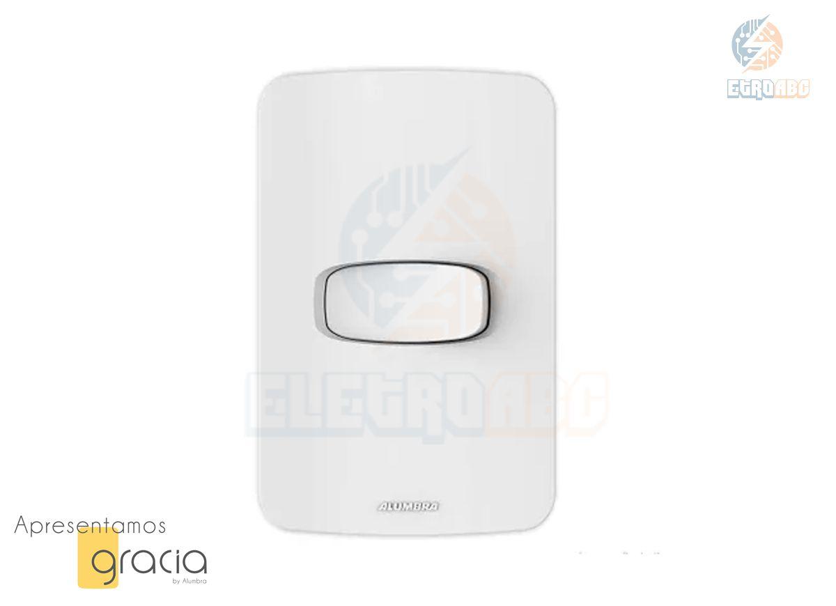 Placa 4x2 + INT.simples 10A-250V BR GRACIA 85322