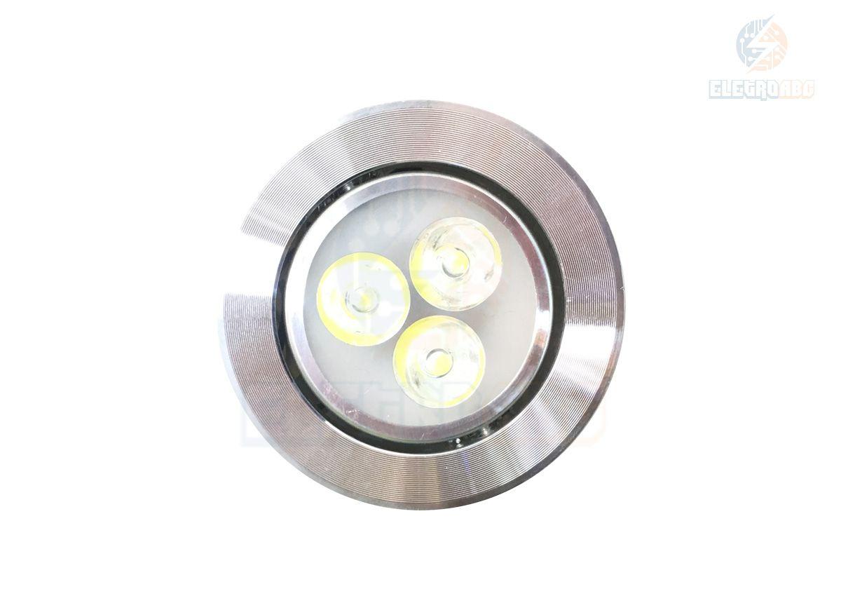 spot LED AL. Polido 3 watts BF redondo
