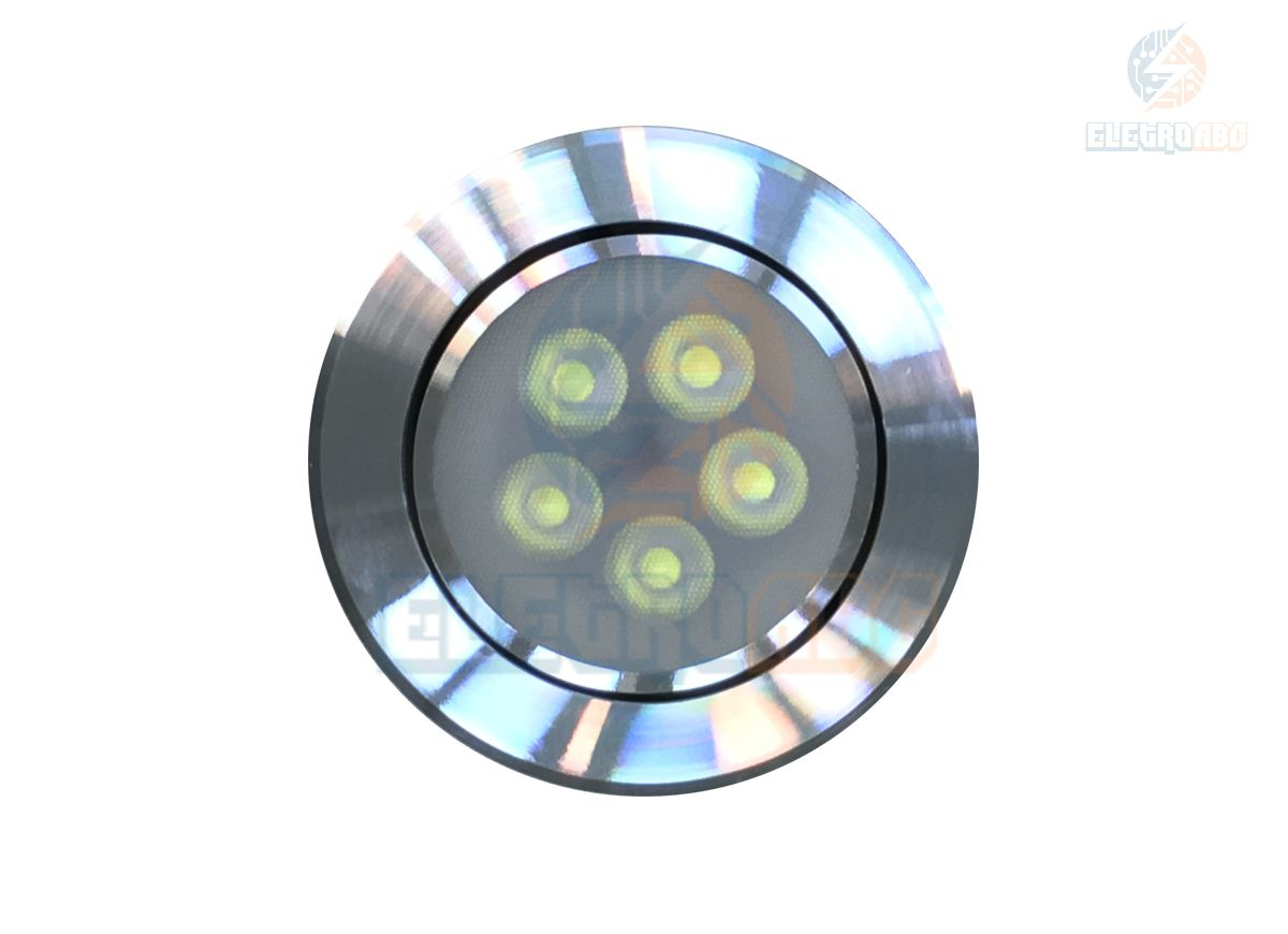 Spot LED AL. Polido 5 watts BF redondo