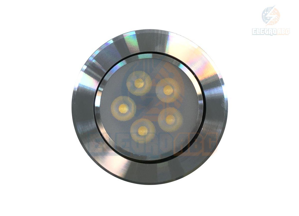 Spot LED AL. Polido 5 watts BQ redondo
