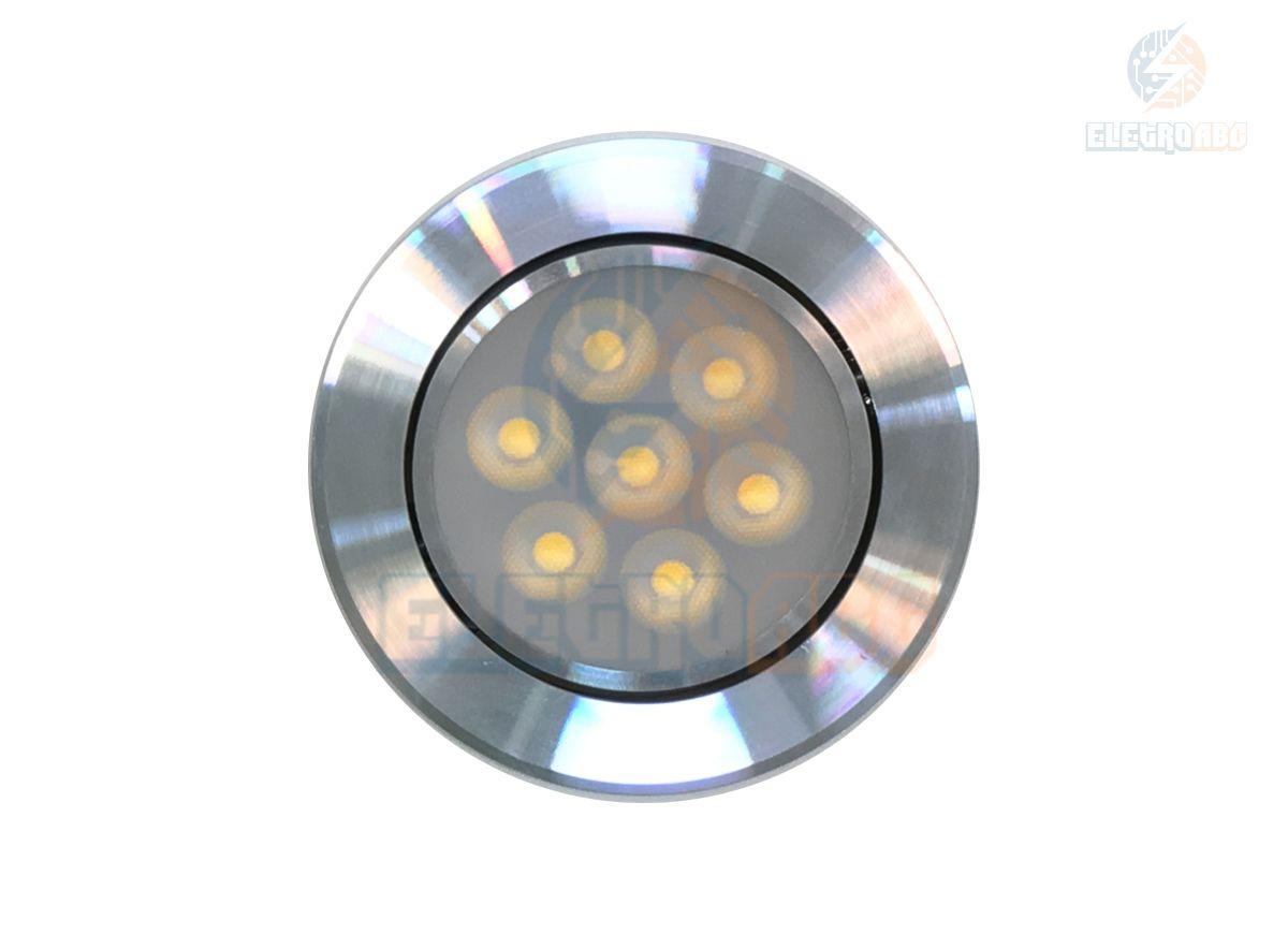 Spot LED AL. Polido 7 watts BQ redondo