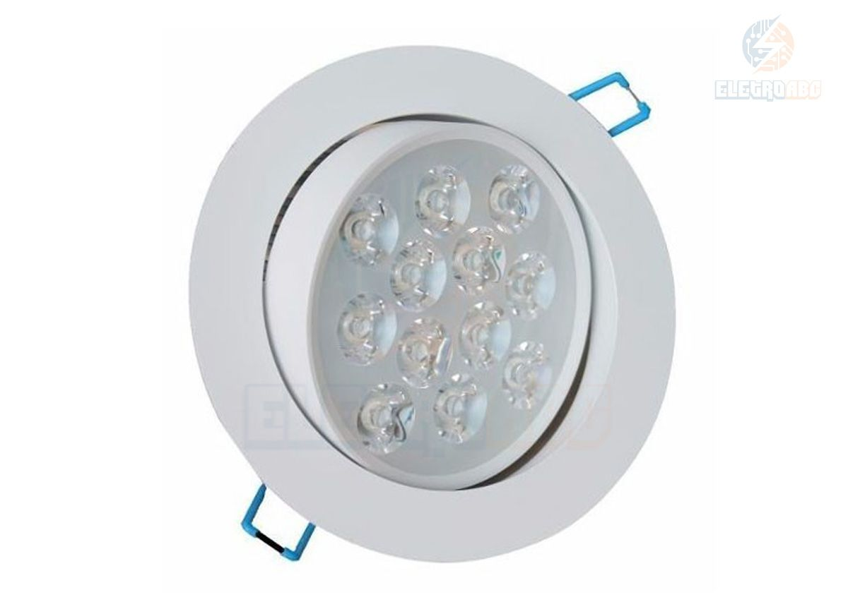 Spot LED Branco 12 watts BF redondo