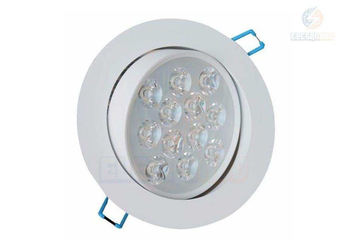 Spot LED branco 12 watts BQ redondo