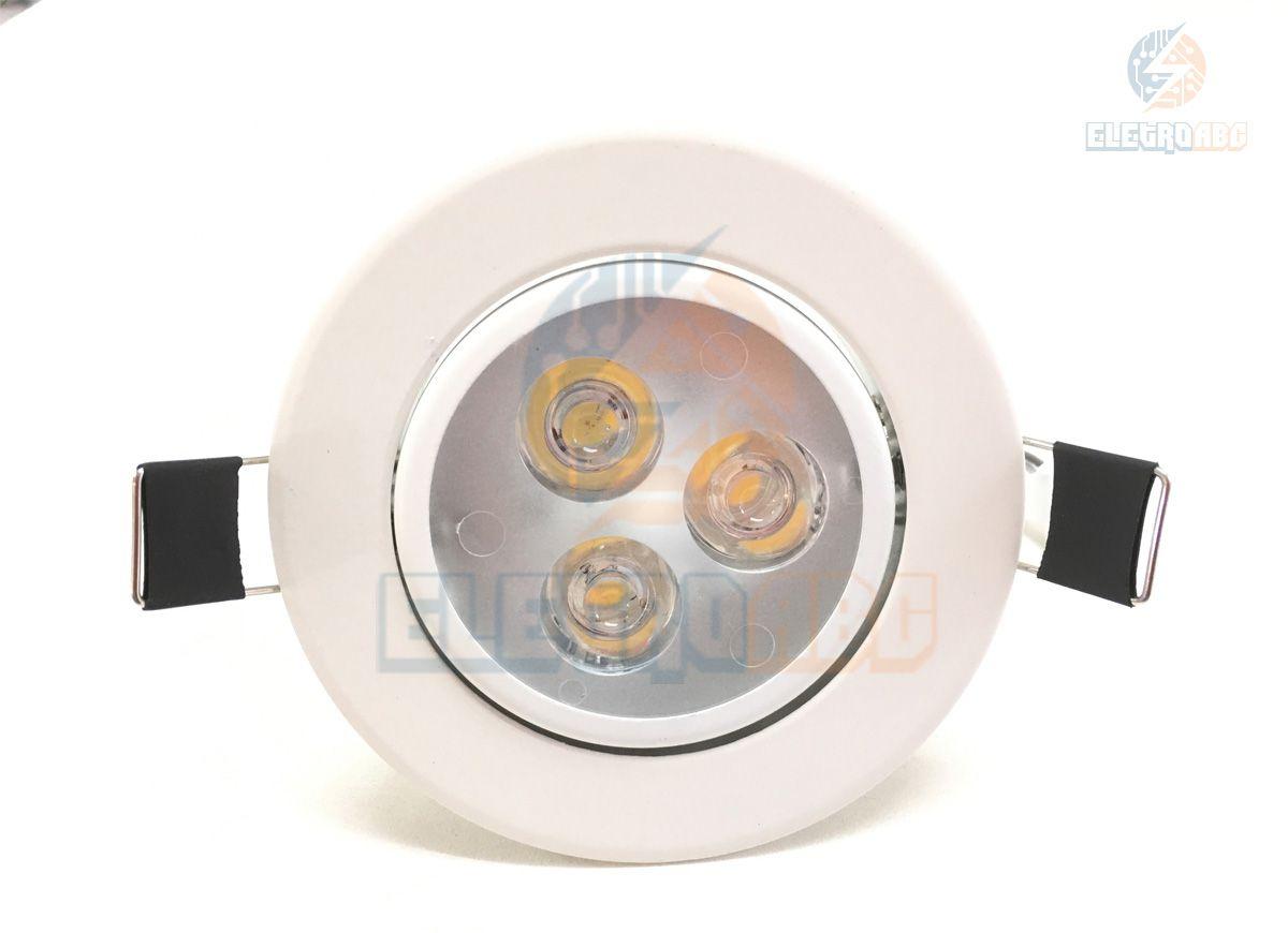 Spot LED branco 3 watts BQ redondo