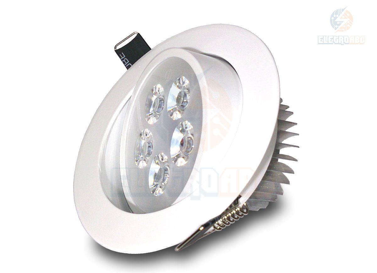 Spot LED branco 5 watts BF redondo