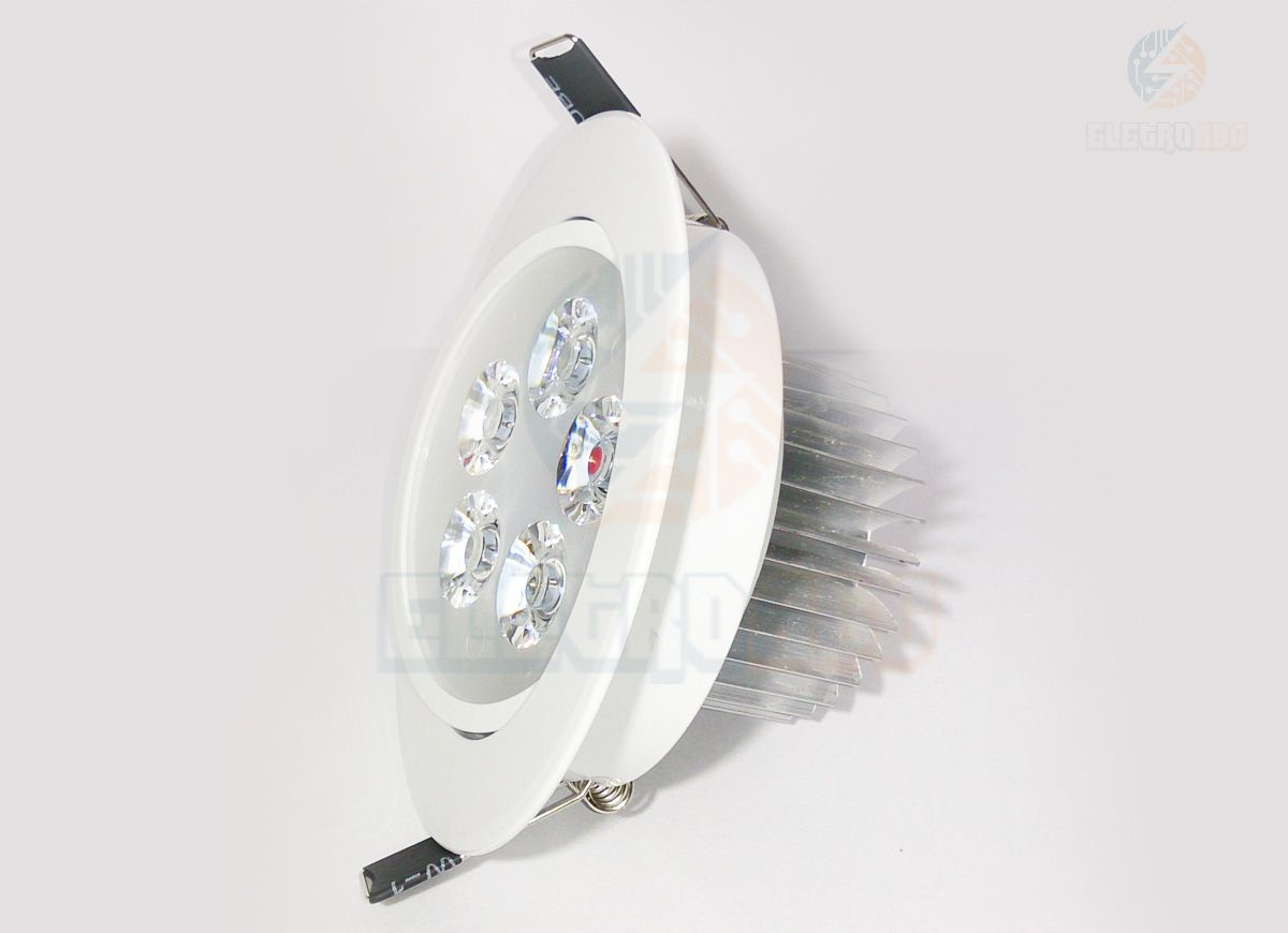 Spot LED branco 5 watts BQ redondo
