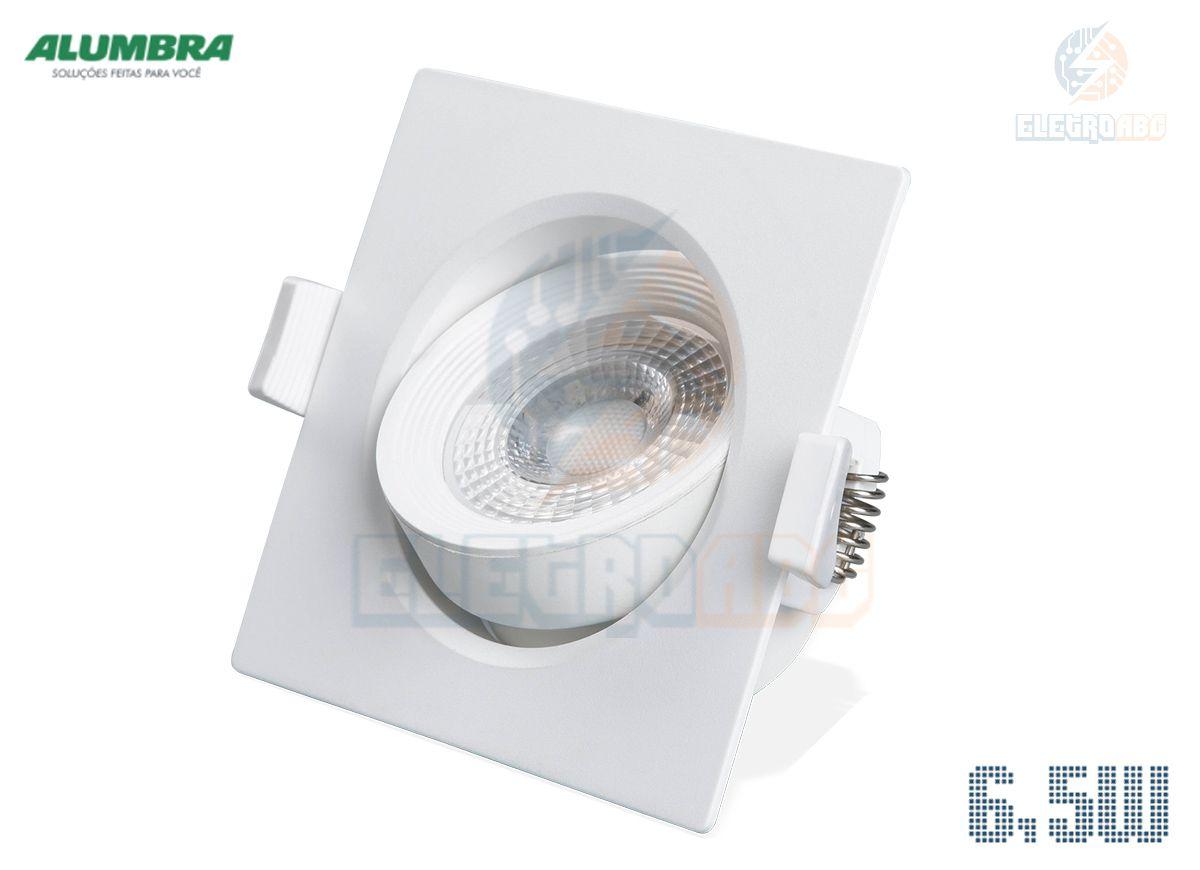 Spot Quadrado BR Regulável LED 6.5W 3000K 84407