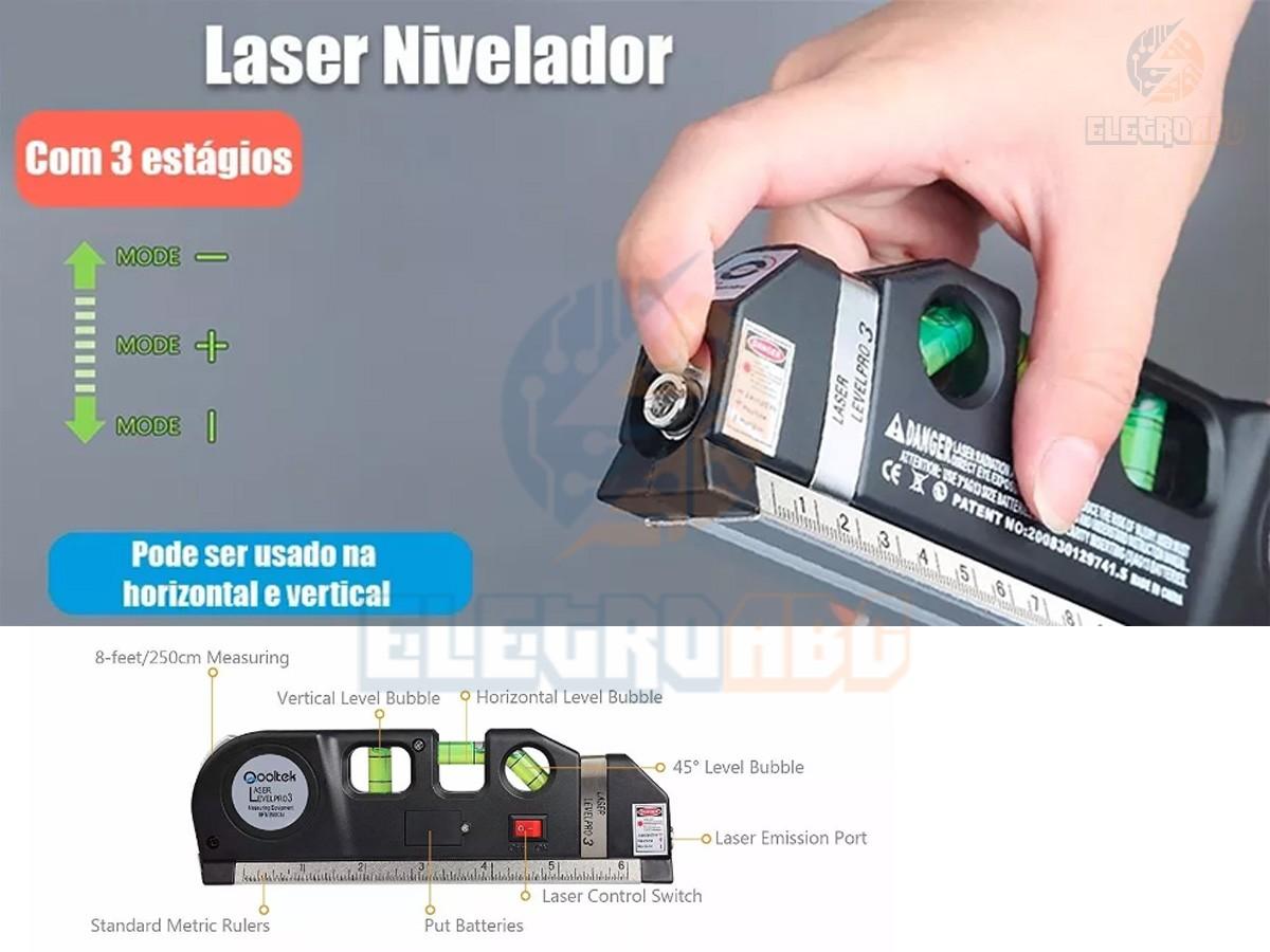 Trena Com Nível A Laser Lv-03