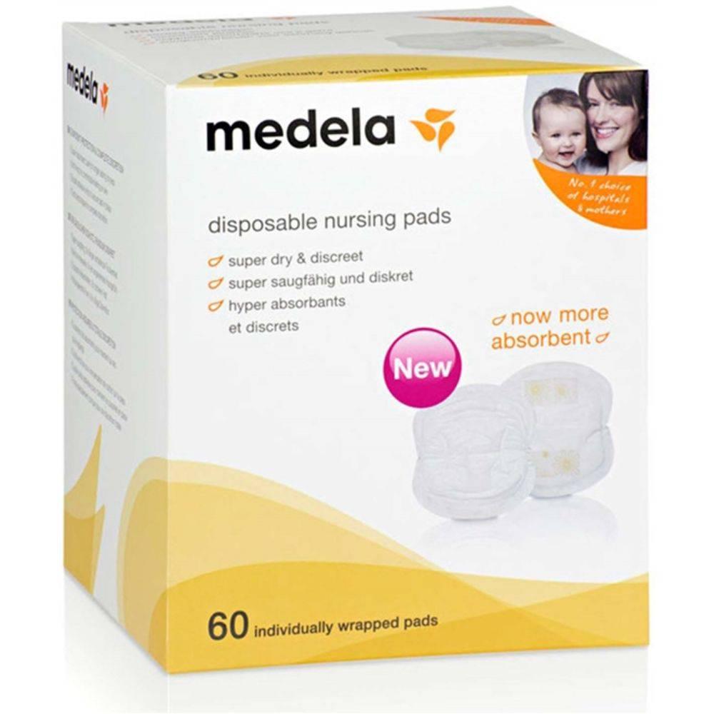 Absorventes descartáveis para seios Medela – 60 unidades