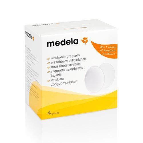 Absorventes reutilizáveis para seios Medela – 4 unidades