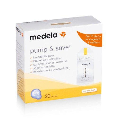 Bolsa para coleta e armazenamento do leite materno Medela Pump & Save – 20 unidades