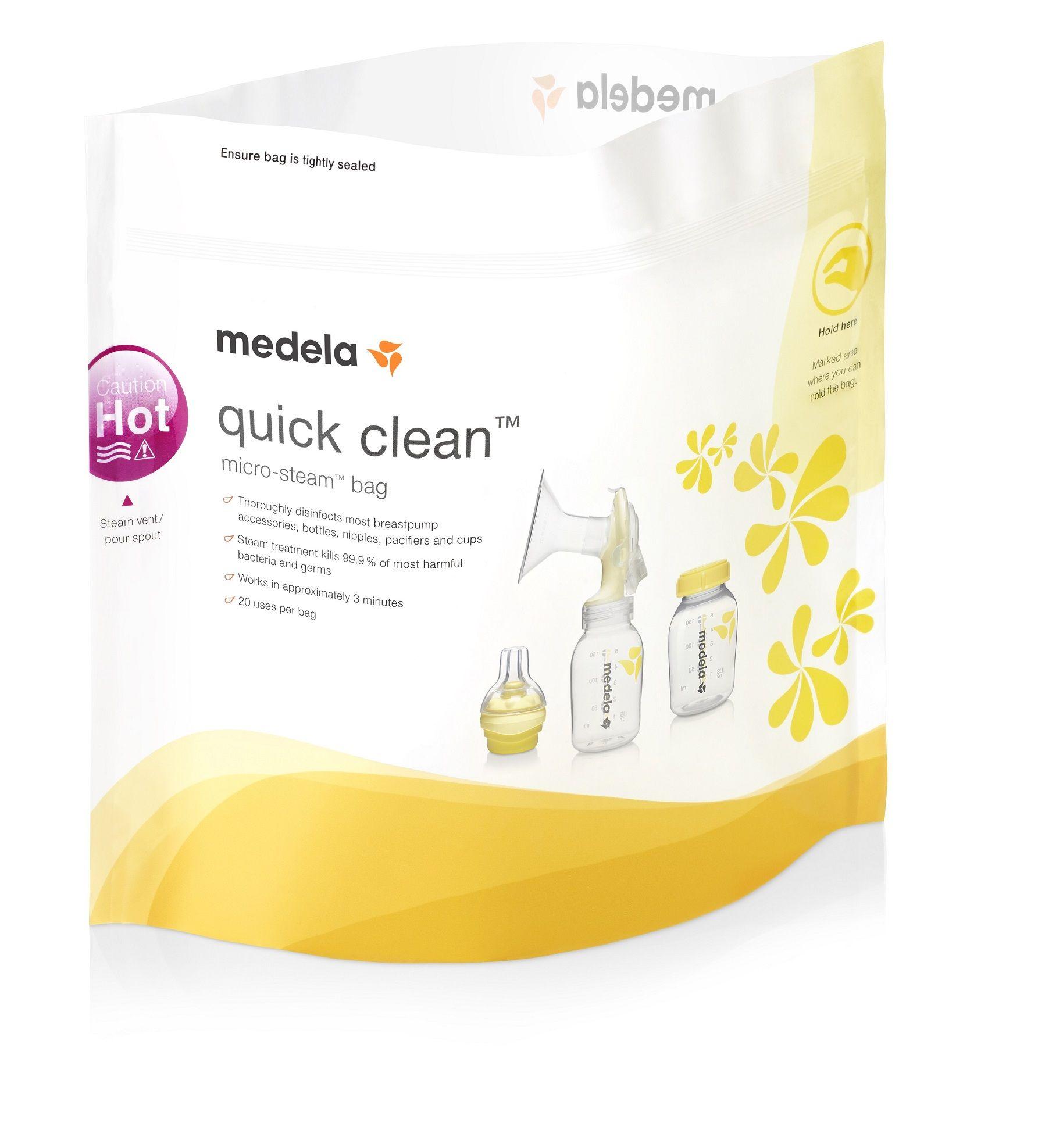 Bolsa para esterilização em microondas Medela Quick Clean – 5 unidades