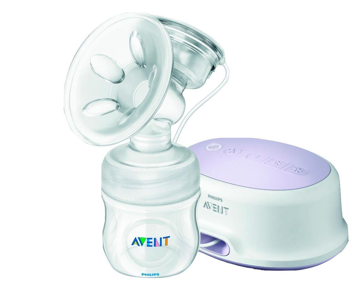 Bomba extratora de leite materno elétrica simples - Pétala Avent Philips