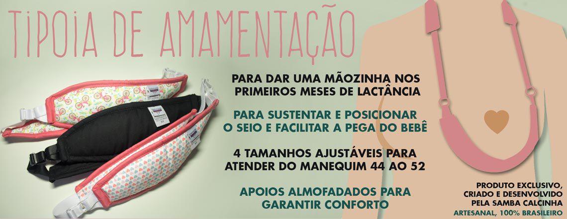 Tipóia de amamentação Samba Calcinha - Jeans Clara