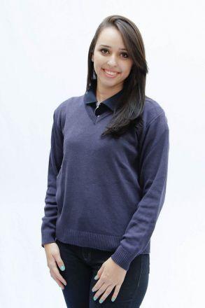 Blusa de Lã Feminina Marinho