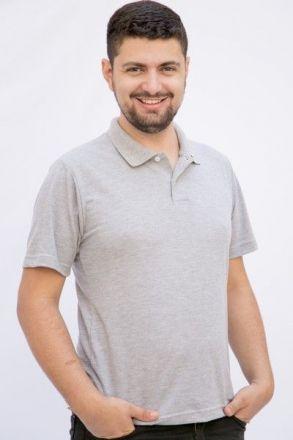 Pólo Masculina Cinza Mescla