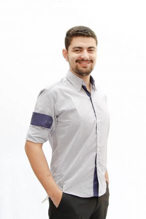 Camisa M. Longa Listrada Marinho