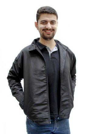 Jaqueta de Tactel Preta