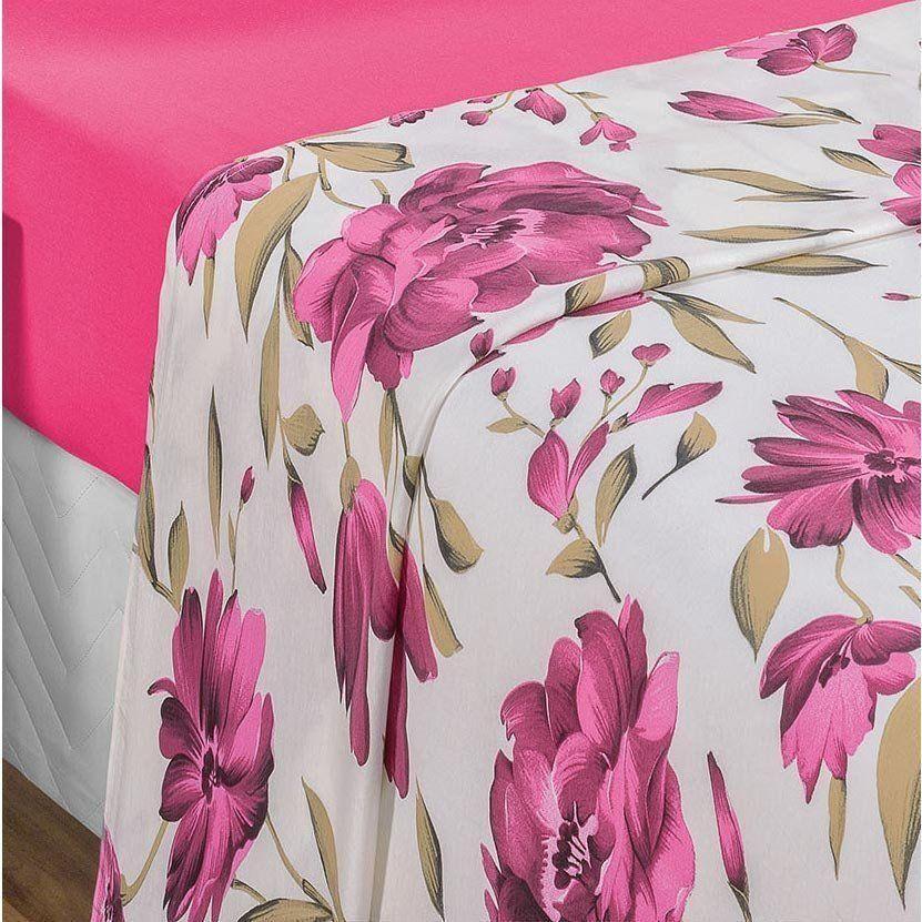 2b4303bda0 ... Jogo de Cama Casal King Quality 4 peças Malha Fio Penteado 30 1- Pink