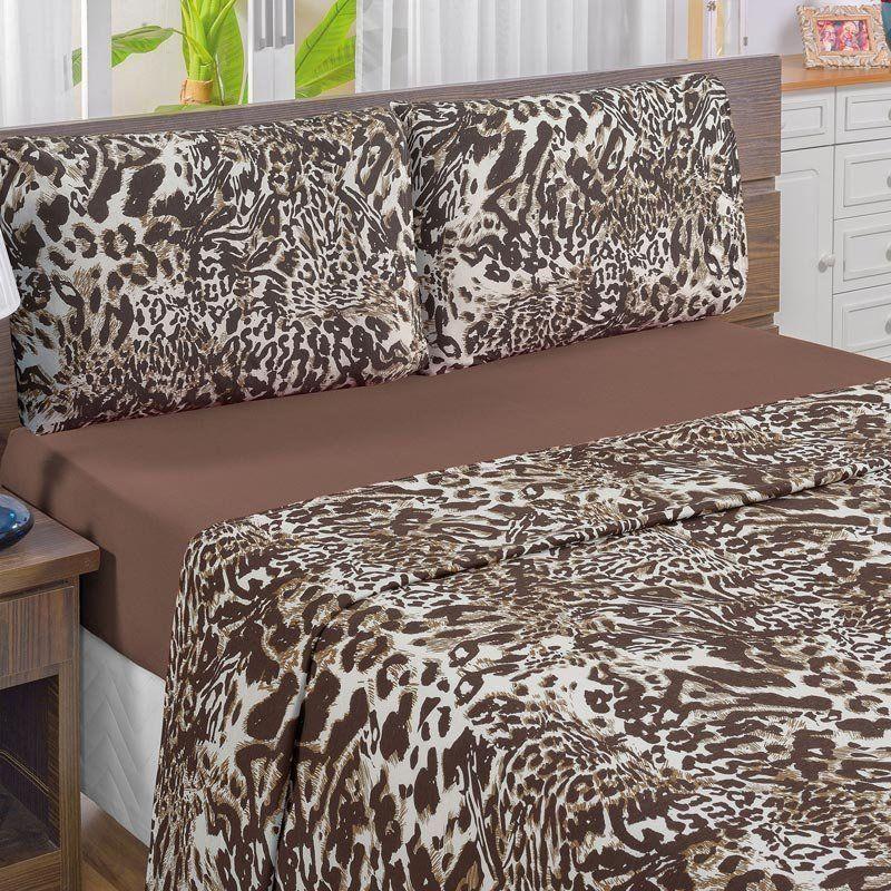 3897172ed4 Jogo de Cama Solteiro Quality 3 peças Malha Fio Penteado 30 1- Tabaco