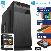 Computador Intel Core i5 3.2Ghz Com Dvd 4GB HD 500GB Windows 10 Pro Wifi Desktop Pc