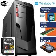 Computador Intel Core i5 3.2Ghz Com Dvd 8GB HD 500GB Windows 7 Wifi Desktop Pc