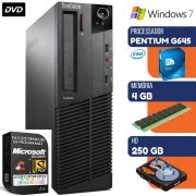 Computador Lenovo Intel Pentium G645 2.9Ghz 4GB HD 250GB Windows 7 Dvd Wifi
