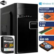 Computador Pc Phenom 3.2ghz 4gb Hd 500gb Windows 10 Pro Com Wi-fi