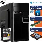 Computador Prime Intel Dual Core 4gb Hd 160gb Windows 10 Pro Com Wi-fi