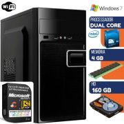 Computador Prime Intel Dual Core 4gb Hd 160gb Windows 7 Com Wi-fi