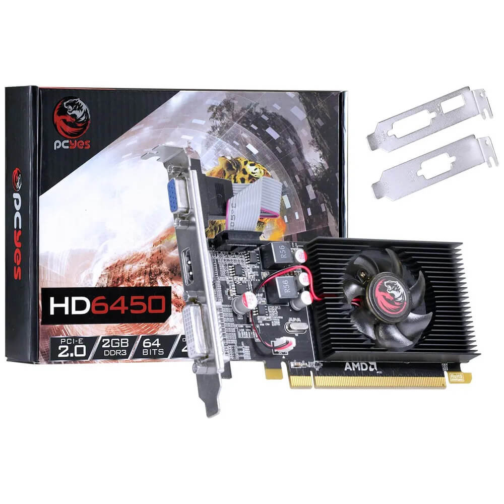 Placa de Vídeo AMD Radeon HD 6450 2GB DDR3 PCI-E 2.0