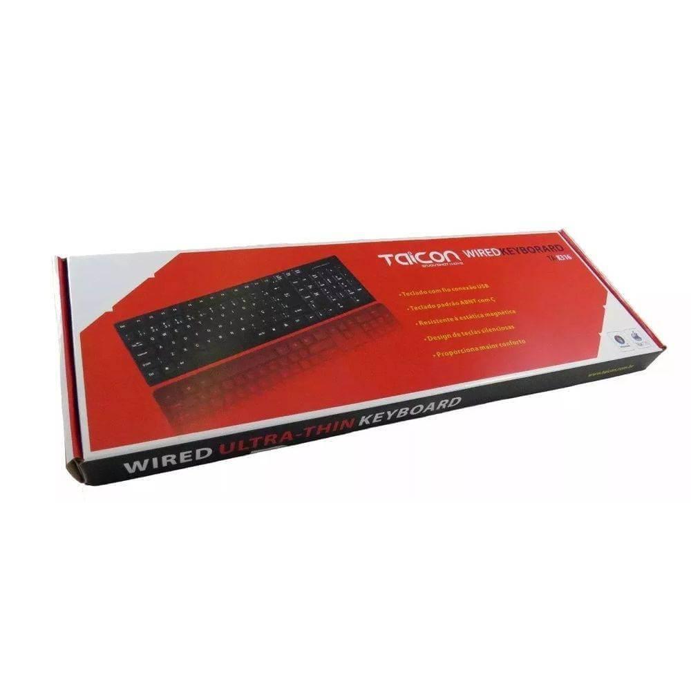 Teclado USB TAICON Padrão Abnt2 104 Teclas