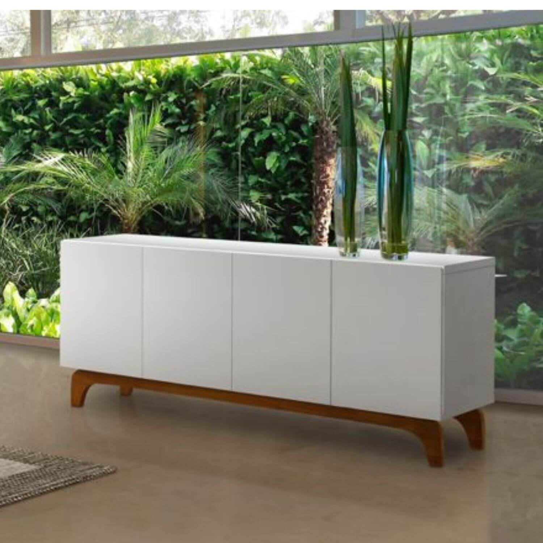 Buffet Oriente 180cm Laca Off White / Mel