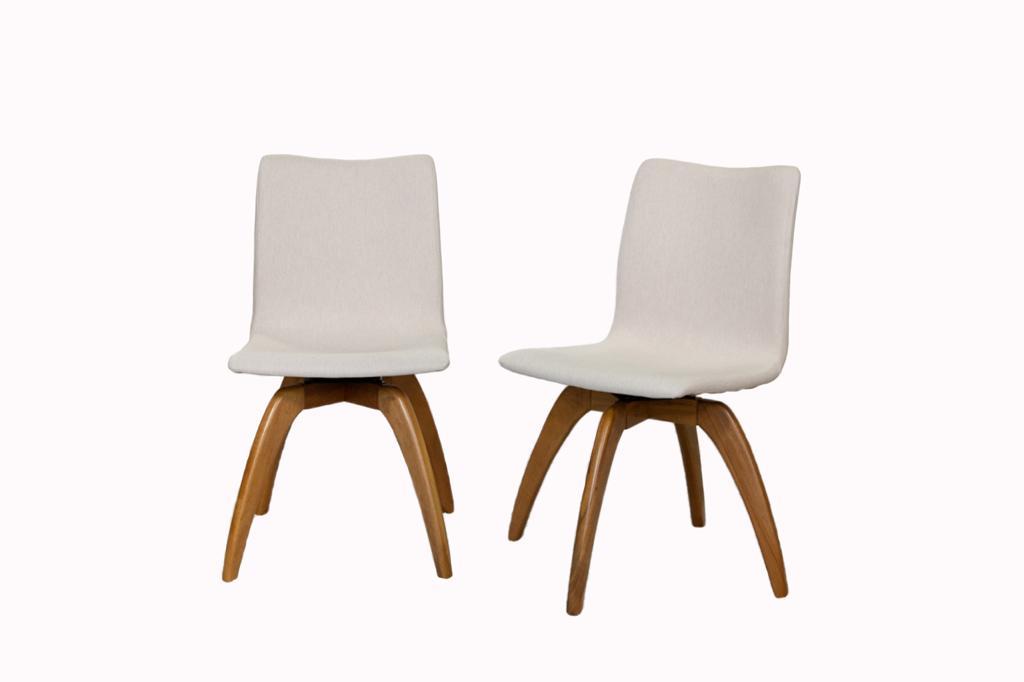 Cadeira de Jantar Giratória Danae Linho Cru