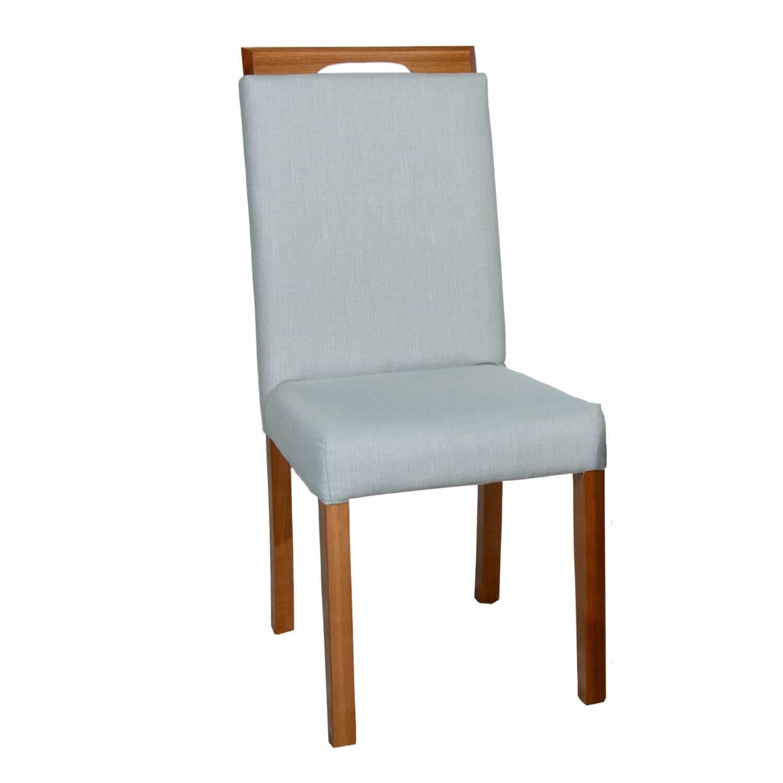 Cadeira de Jantar Suíça Tecido Cinza Claro
