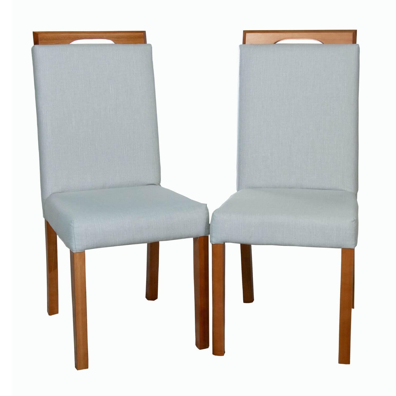 Cadeira de Jantar Suíça Tecido Cinza Claro  - Formato Móveis e Decorações