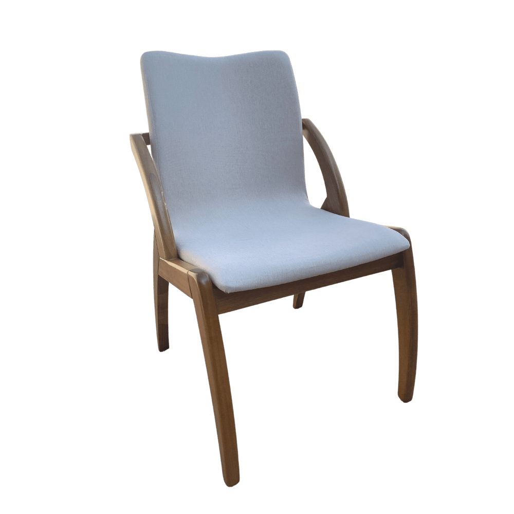 Cadeira de Jantar  Jane com Braço Linho Cru