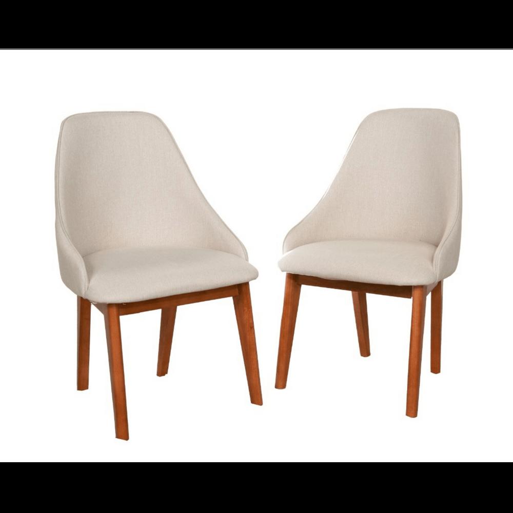 Cadeira de Jantar Mirian Linho Bege