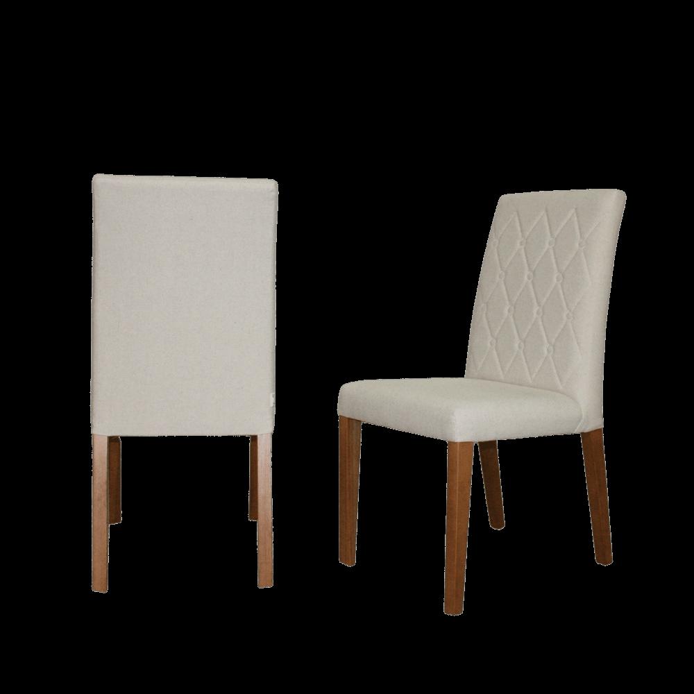 Cadeira de Jantar Victini Linho Creme