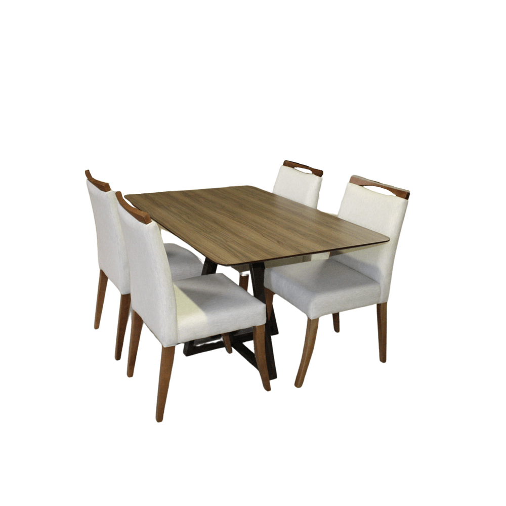 Mesa de Jantar Eunice Com 4 Cadeiras Lara
