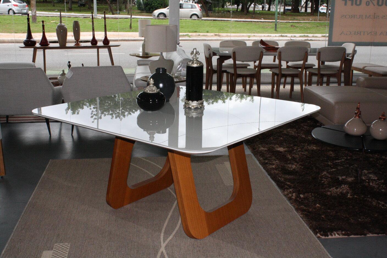 Mesa de Jantar Quadrada Oslo Com 8 Cadeiras Ryva