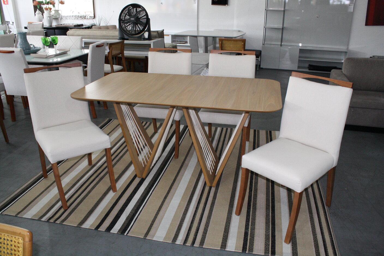Mesa de Jantar Califórnia Com 4 Cadeiras Lara