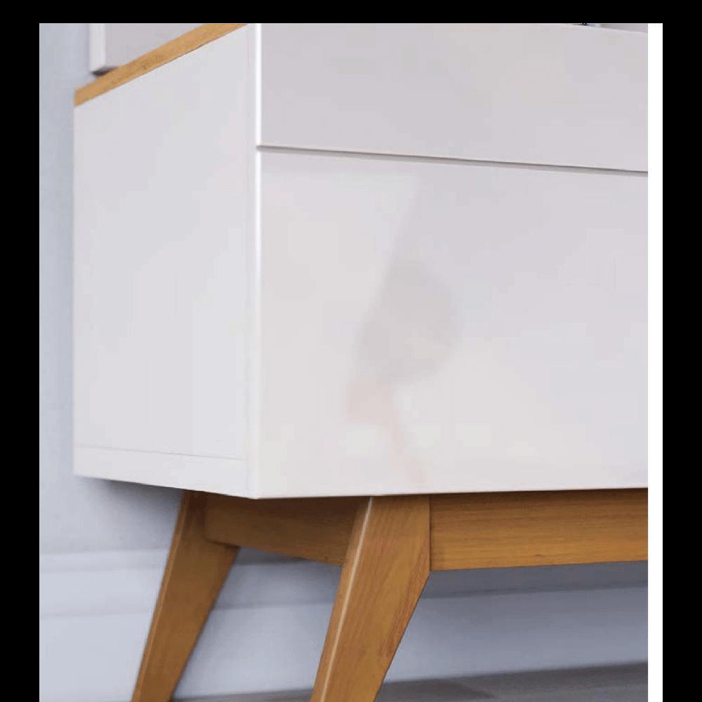 Conjunto Rack e Painel Class Off White/Nature
