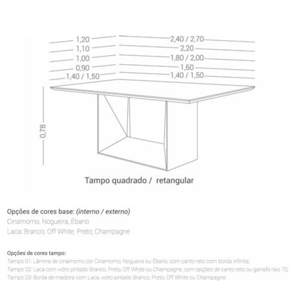 Mesa de Jantar Belém Laca e Nogueira