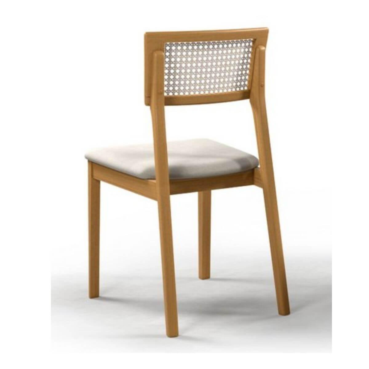 Mesa de Jantar 160cm Baeza Com 6 Cadeiras Ryva  - Formato Móveis e Decorações