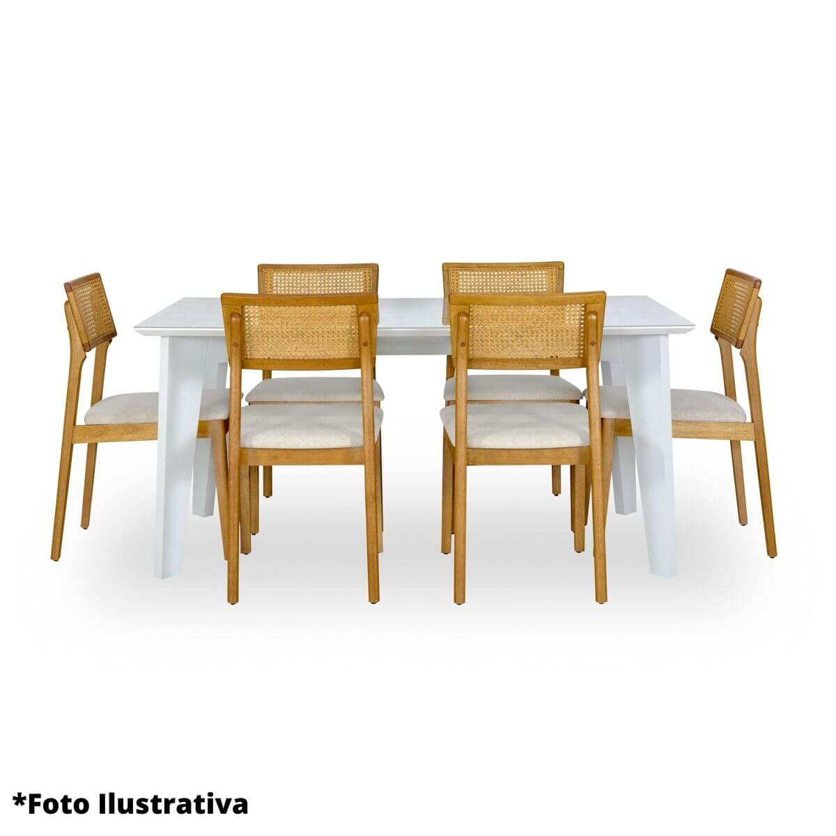 Mesa de Jantar 4 Lugares Retangular Baeza 140cm  - Formato Móveis e Decorações
